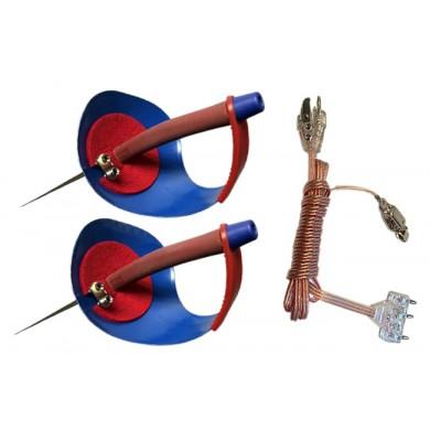 Saber 4 PCS Set- 2 Basic Electric Sabre Weapon + 2 Econo Body Co