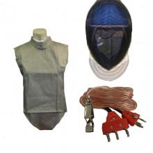 3 PC Electric Foil Set - Lame, Mask, Body Cord